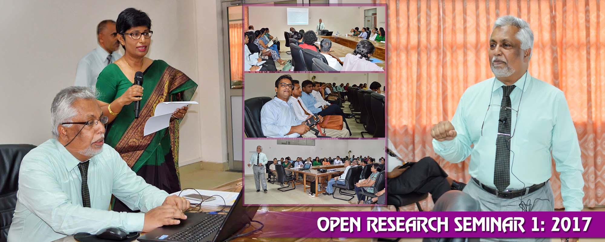 Open Research Seminar – March 2017