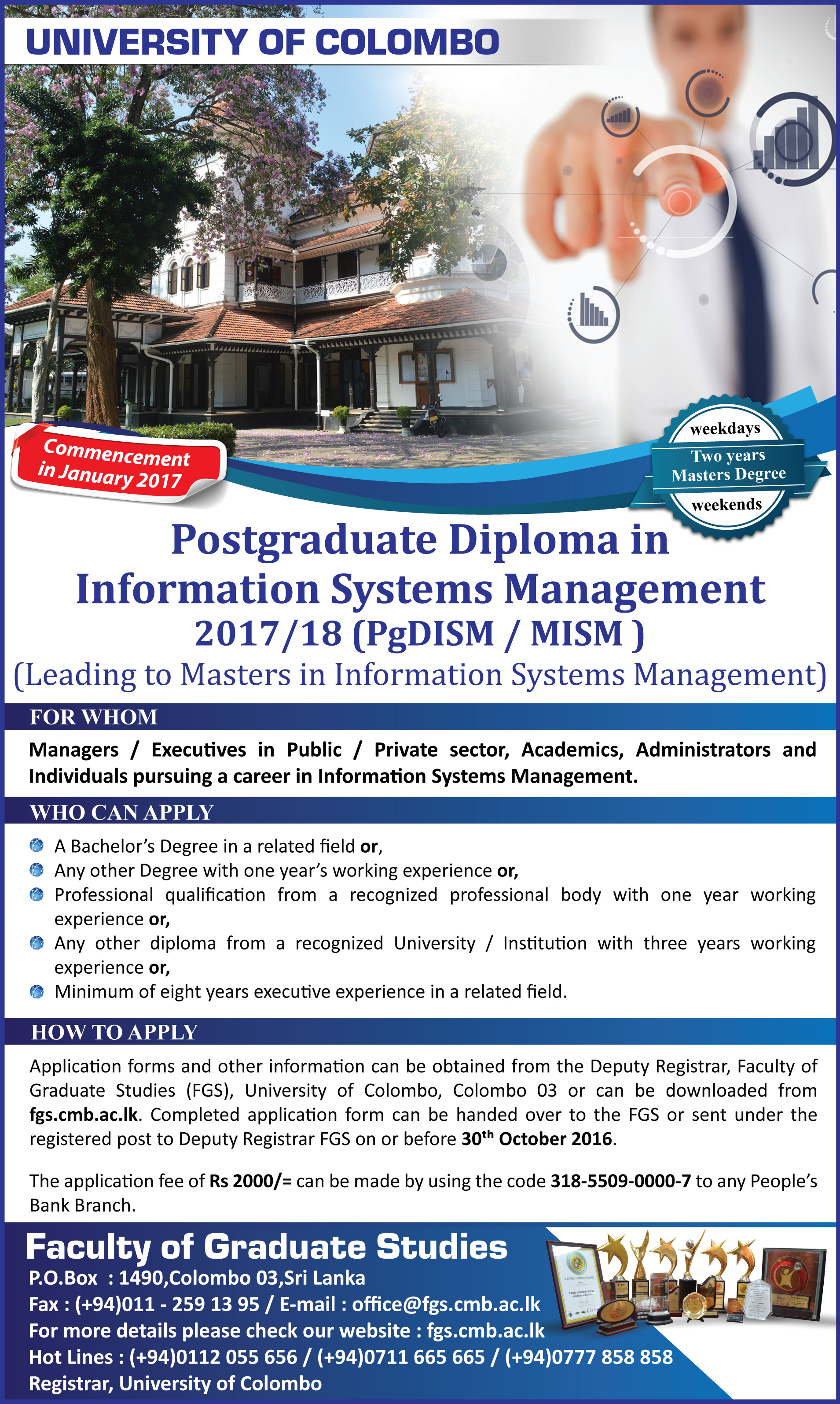 postgraduate diploma in information systems management pgdism  postgraduate diploma in information systems management pgdism 2017 18