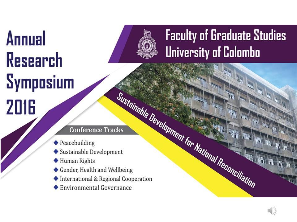 Annual Research Symposium 2016