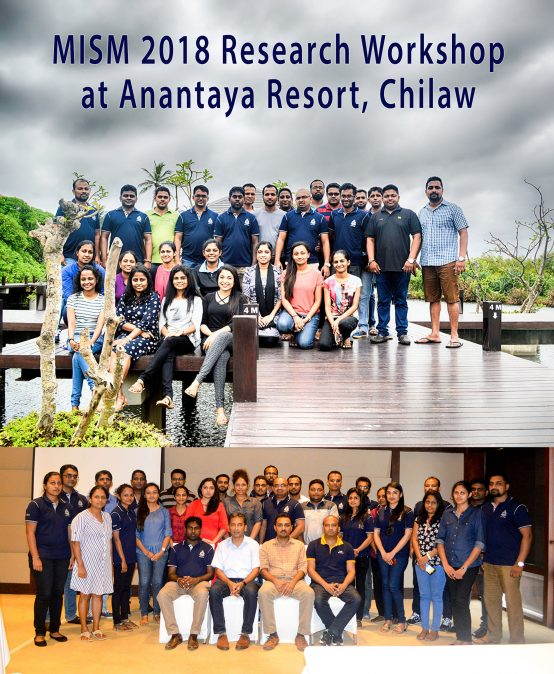 MISM 2018 Research Workshop at Anantaya Resort, Chilaw