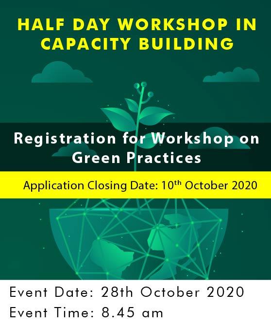 Registration for Workshop on Green Practices