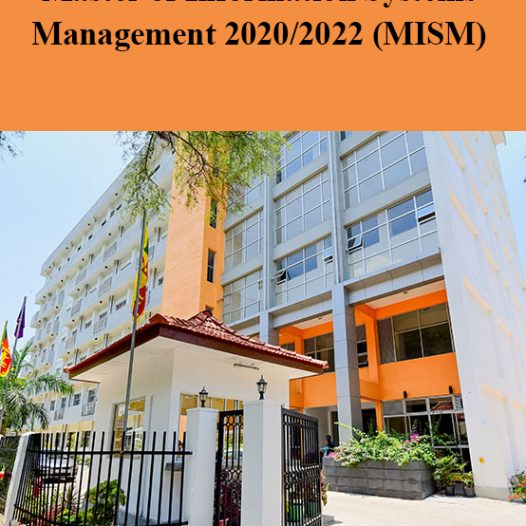 Master of Information Systems Management 2020/2022 (MISM)