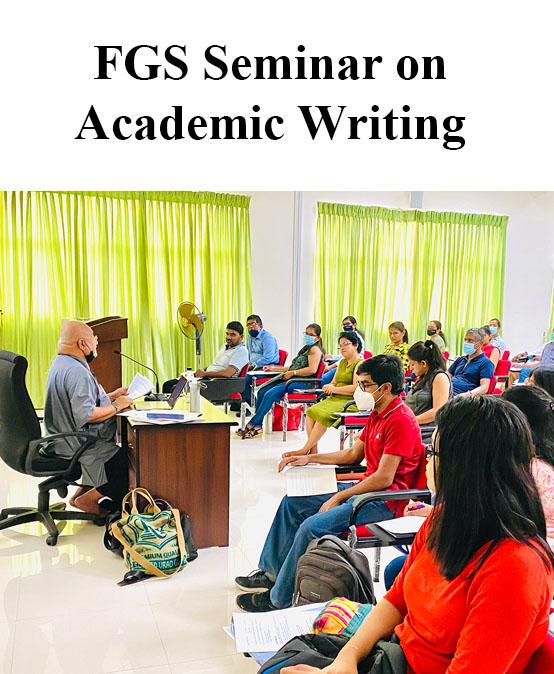 A Seminar on Academic Writing