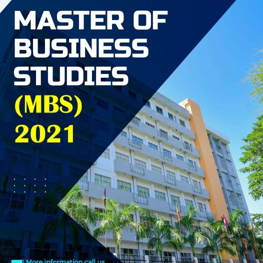Master of Business Studies – MBS 2021