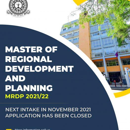 Master of Regional Development and Planning – MRDP 2021/22