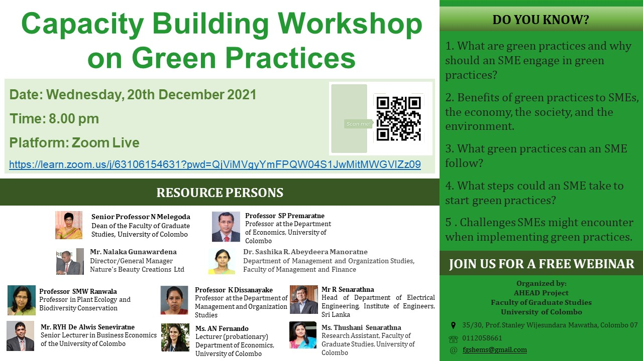 Capacity Building Workshop on Green Practices